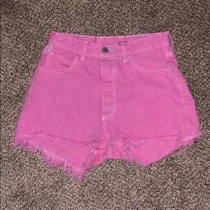 bubblegum pink shorts!!
